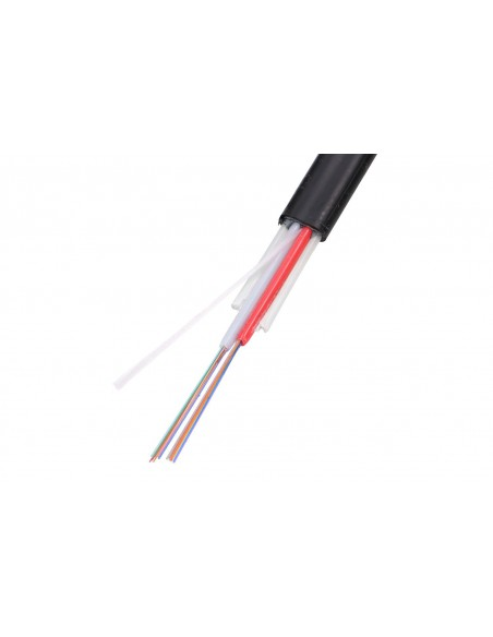 24F EXTRALINK FLAT AERIAL FIBER OPTIC CABLE 24J SM G652 D 1,3KN WITH FRP FUJIKURA FIBERS INSIDE
