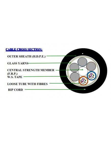 24F EXTRALINK SM DUCT AND AERIAL OPTICAL FIBRE CABLE (NO METAL SHIELD) 24J SM G652 D DIAMETER 12MM