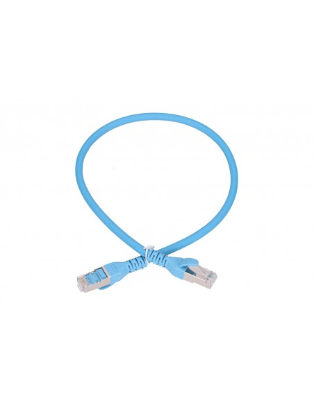 EXTRALINK LAN PATCHCORD CAT.6A S/FTP 0,5M 10G SHIELDED FOILED TWISTED PAIR BARE COPPER