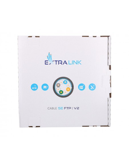 EXTRALINK CAT5E FTP (F/UTP) V2 OUTDOOR TWISTED PAIR 305M