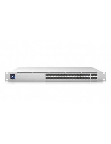 UBIQUITI USW-PRO-AGGREGATION UNIFI SWITCH PRO 28x SFP+ 10GB PORTS, 4x SFP28 25GB PORTS, 760 GBPS SWITCHING CAPACITY, BACKUP 12V,